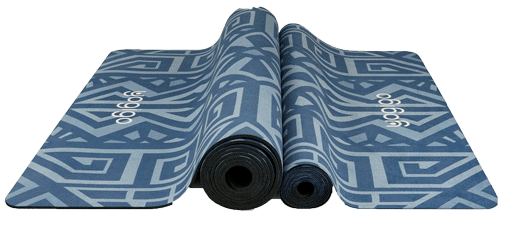 the best yoga mat from natural rubber base and towel top