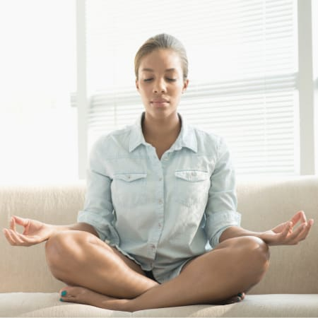 How to meditate if i cant breathe through nose
