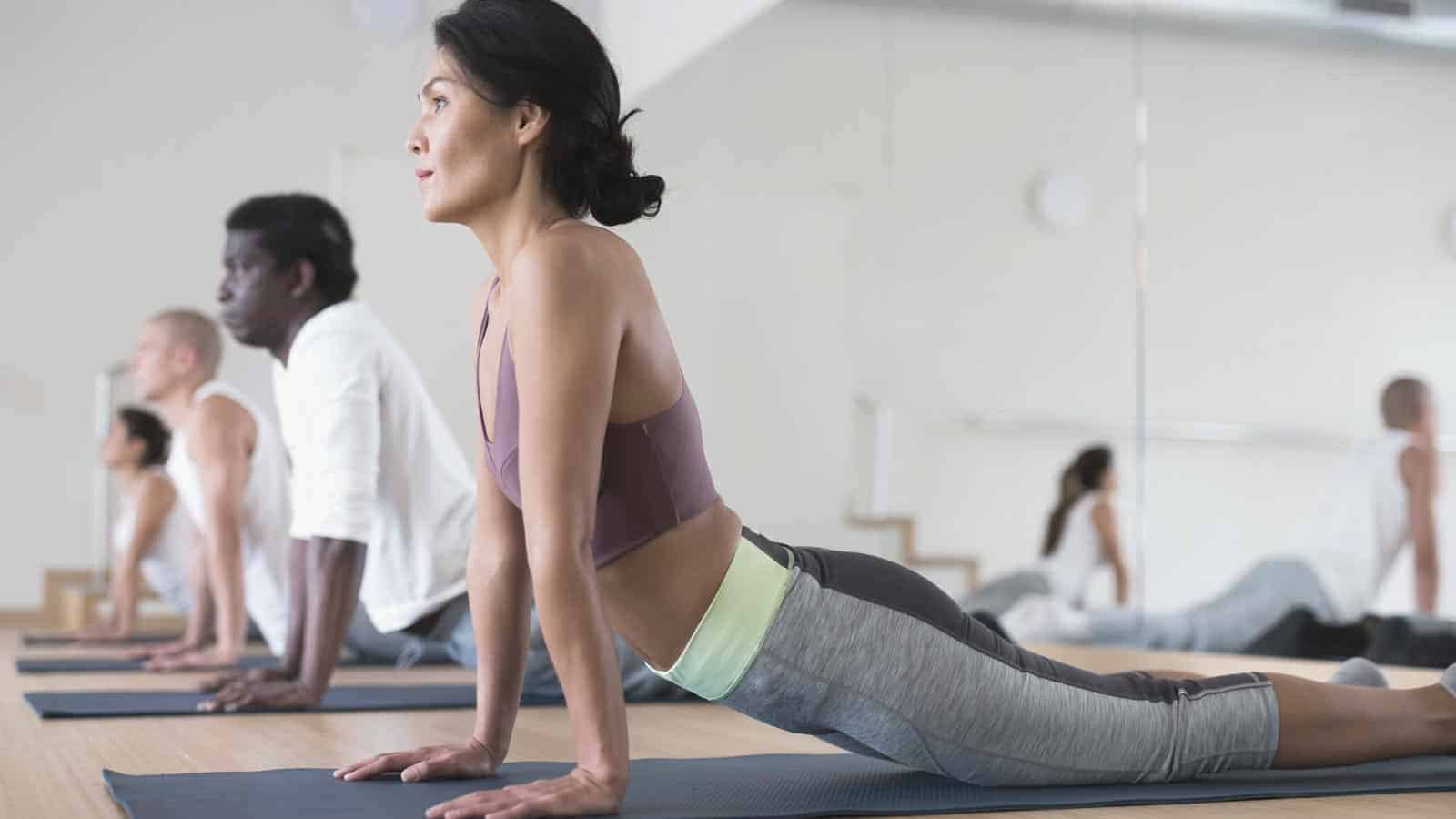 first yoga class for beginners