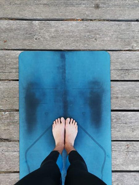 Why I have spots on yoga mat