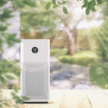 Air purifier for yoga room
