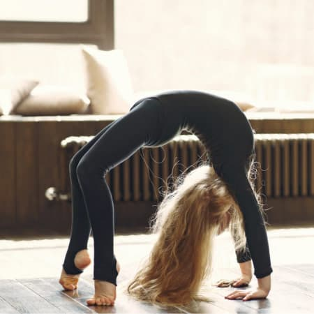 how to move from bridge pose to wheel pose