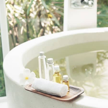 Bath oils for muscle pain